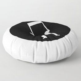 Music connects people Floor Pillow