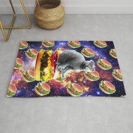 Hamburger Astro Cat On Burger Rug