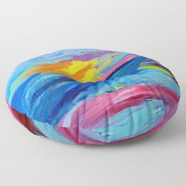 Abstract Nature Floor Pillow