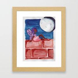 Fairy in the Moonlight Framed Art Print