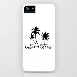 Intermission - On Holiday with Palm Trees iPhone Case