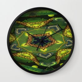 Frilled Reflux Mandala 1 Wall Clock
