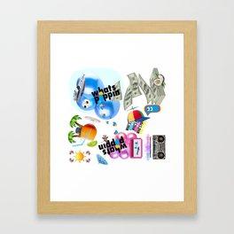 Whats Poppin Framed Art Print