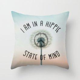 Hippie State Of Mind Throw Pillow