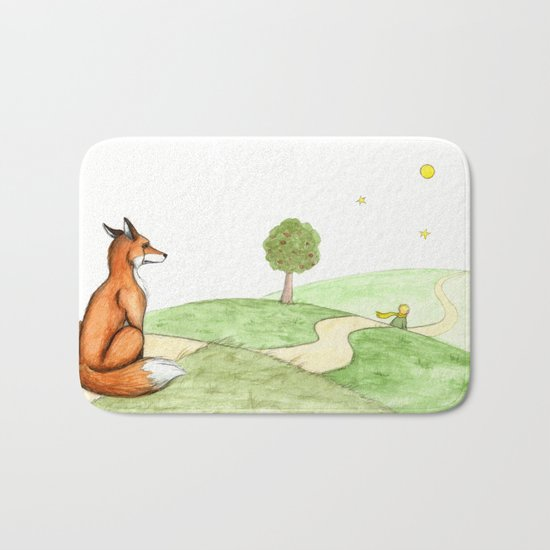 The little Prince and the Fox Bath Mat