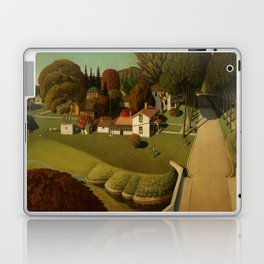 Birthplace of Herbert Hoover, West Branch, Iowa by Grant Wood Laptop & iPad Skin