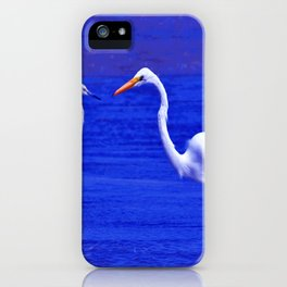 ROYAL BLUE GARZA BIRD iPhone Case