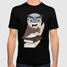 Professor Owl Black MEDIUM Mens Fitted Tee