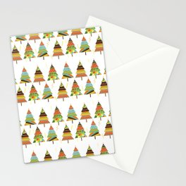 Abstract pine tree forest seamless pattern background Stationery Cards