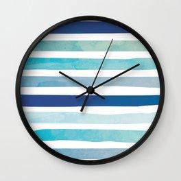 Seaside Stripes Wall Clock