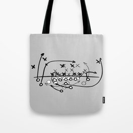 Football Soccer strategy play Diagram  Tote Bag