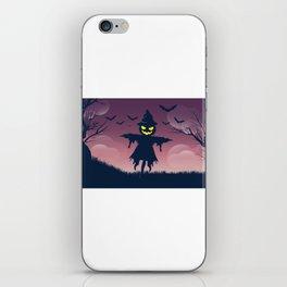 Scarecrow Happy Halloween iPhone Skin