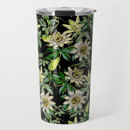 Vintage & Shabby Chic- Retro Passiflora Caerulea Pattern Travel Mug