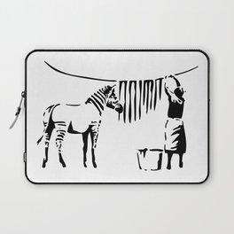 Banksy, A Woman Washing Zebra Stripes Artwork Reproduction, Posters, Tshirts, Prints Laptop Sleeve