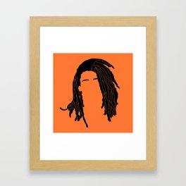 light orange Framed Art Print