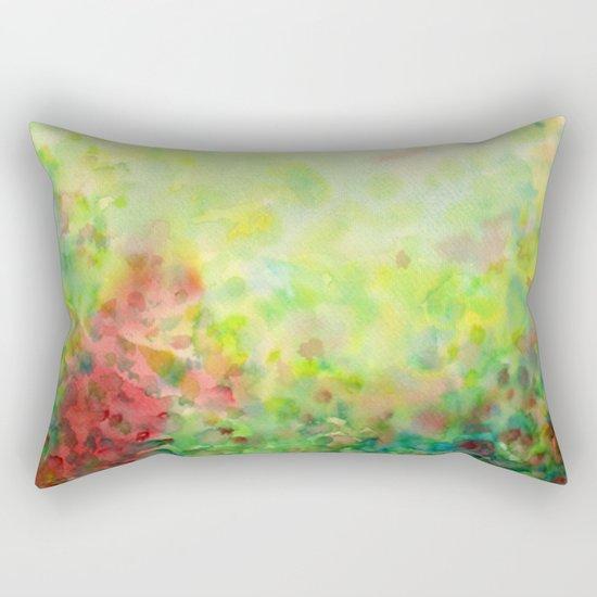 Green Mystical Spring Rectangular Pillow