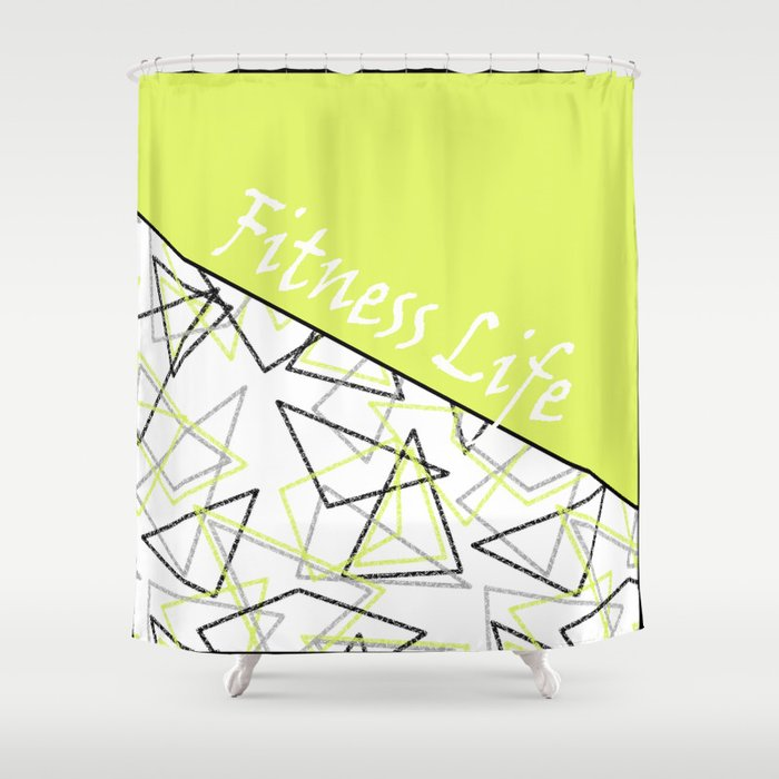 Sport Lemon White Creative Pattern Shower Curtain By Fuzzyfox85