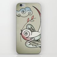 sparrow iPhone & iPod Skins featuring Sparrow by Vin Zzep