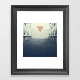 In(ward) Framed Art Print