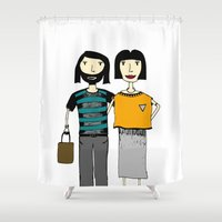 couple Shower Curtains featuring Couple by Anna illustrates