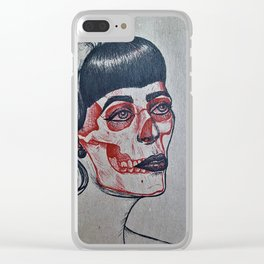 Rockabilly x-ray Clear iPhone Case