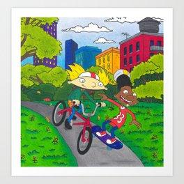 Hey Arnold Gerald Nickelodeon 90s Arnold Shortman Art Print