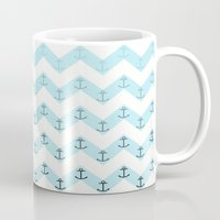 anchors Mugs featuring Anchors by Mercedes