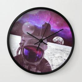 PURPLE SKIES Wall Clock