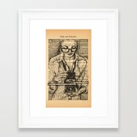 pride and prejudice Framed Art Prints featuring Pride & Prejudice, Page 7 by Rebecca Loomis
