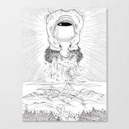 Da Cryeation . ink Canvas Print