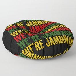 We're Jamming | Jamaican reggae  music lovers gift | Jamaica flag Floor Pillow