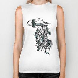 Poetic Llama Biker Tank
