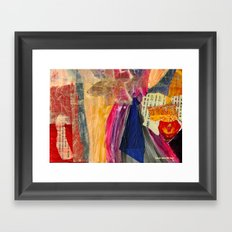 Collage Love - Asian Tie Framed Art Print