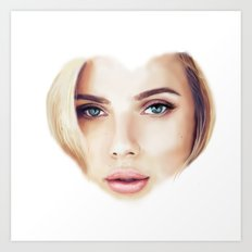 I Heart Scarlett Art Print