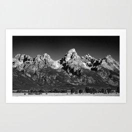 Grant Teton National Park - Mountains Art Print