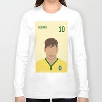 neymar Long Sleeve T-shirts featuring NEYMAR by Anthony Morell
