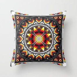 Sacred Places Red Throw Pillow