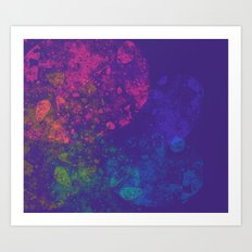 color Splatter Art Print