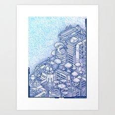 Shroom City Art Print