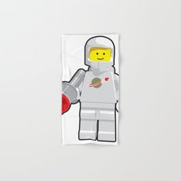 Vintage White Spaceman Minifig Hand & Bath Towel