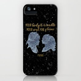 Winterson Your body is a candle iPhone Case
