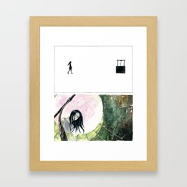 Mary at the Well Framed Art Print