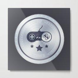 Top Gamer Metal Badge Metal Print