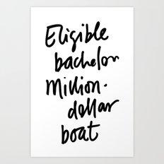 Eligible Bachelor (invert) Art Print
