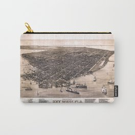 Bird's Eye View of Key West, Florida (1884) Carry-All Pouch