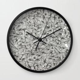 Black Inklings Wall Clock