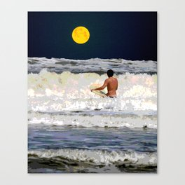 Moonlight Surf Canvas Print