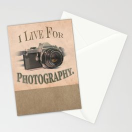 I Live For Photography Vintage Poster Stationery Cards