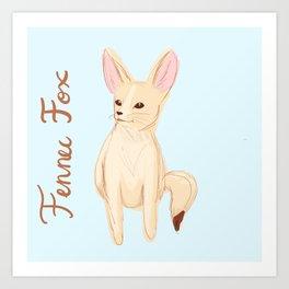 Fennec Fox Sketch Art Print