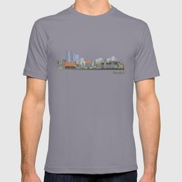 Munich skyline colored T-shirt